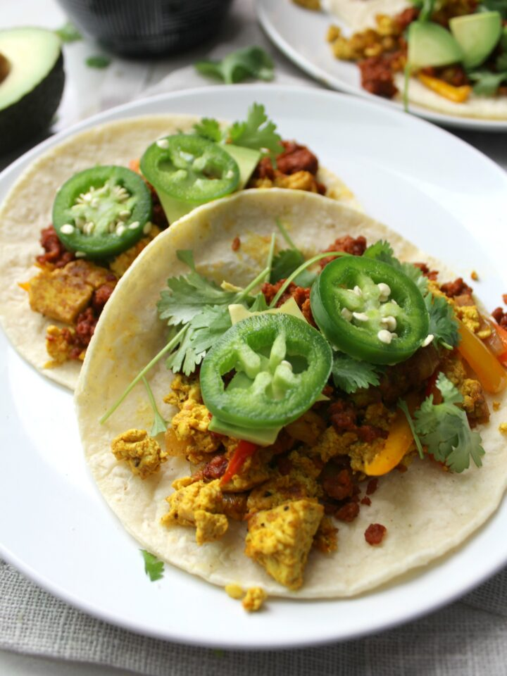 These Breakfast Tacos are perfect for the weekend   VEGAN + GF   ThisSavoryVegan.com