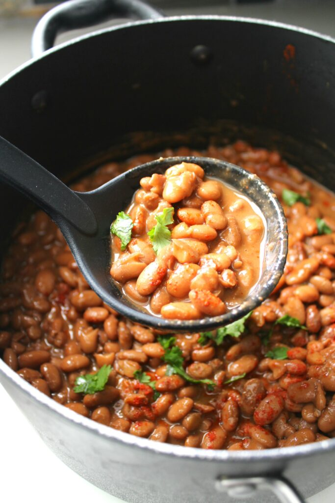 Making beans from scratch is easier than you think. Try these Mexican Pinto Beans for the most delicious beans you've ever had!   VEGAN + GF   ThisSavoryVegan.com
