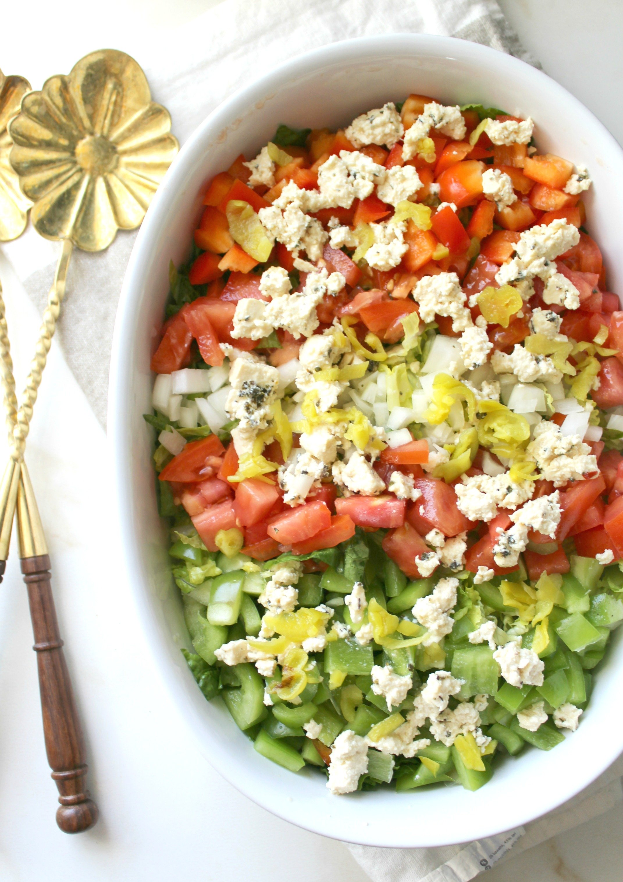 Chopped Salad with Tofu Feta - This Savory Vegan