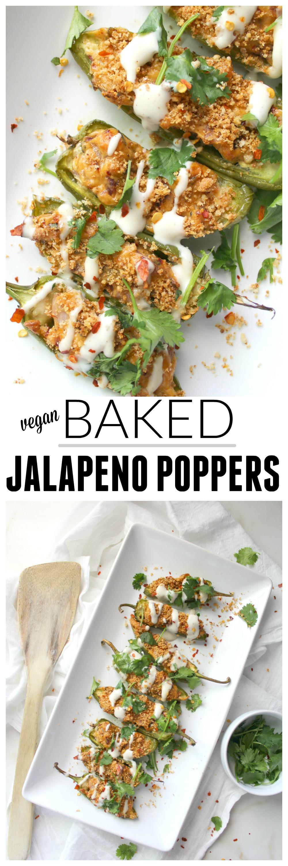 Vegan Baked Jalapeno Poppers   ThisSavoryVegan.com
