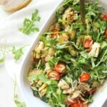 Load up on summer flavors with this Vegan Orzo Pasta Salad with Grilled Veggies. Perfect side for BBQs and pool parties   ThisSavoryVegan.com #thissavoryvegan #summersalad #pastasalad