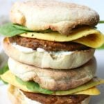 A simple and delicious take on a classic breakfast takeout meal - these really are The Best Vegan Breakfast Sandwiches around! | ThisSavoryVegan.com