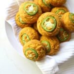 TheseVegan Jalapeño Cornbread Muffins are the perfect combo of spicy and sweet. Serve with vegan butter for a delicious & savory side dish   ThisSavoryVegan.com #thanksgiving #vegan