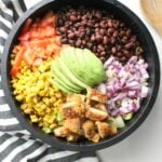 Take your salad to new levels with thisVegan Chicken Taco Salad with Jalapeño Popper Quesadillas. Because quesadillas are the new croutons   ThisSavoryVegan.com #vegan #salad