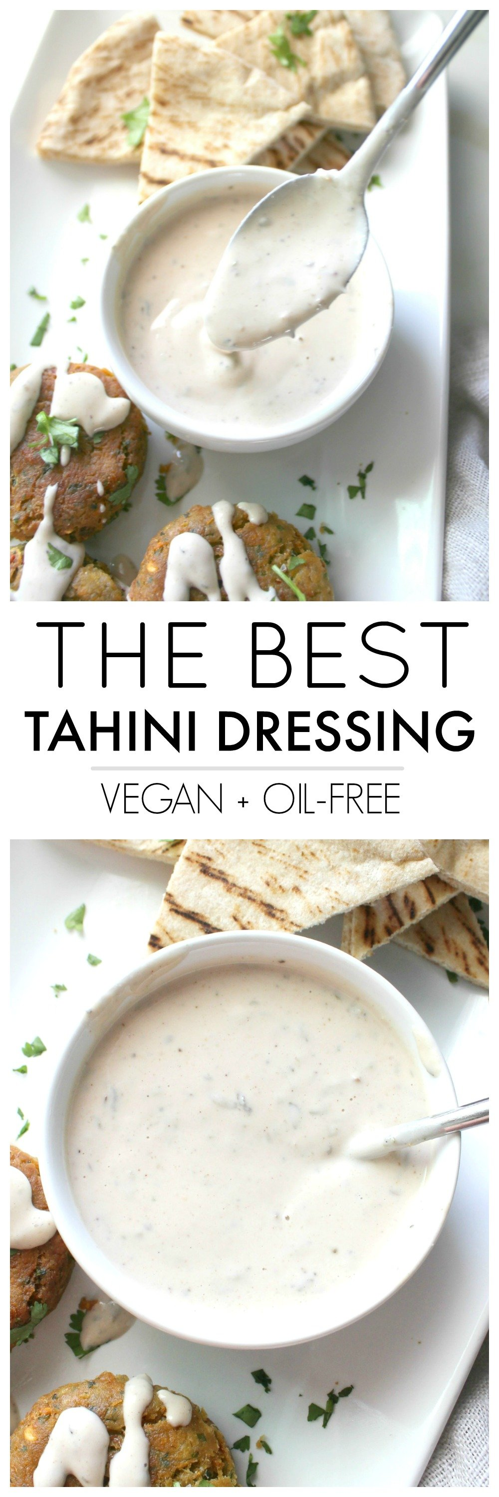 With just 6 ingredients and 60 seconds, you will haveThe Best Tahini Dressing ready to go. Serve this over salads, buddha bowls or roasted potatoes. 100% vegan and no blending required | ThisSavoryVegan.com #vegan #thissavoryvegan #healthyrecipes