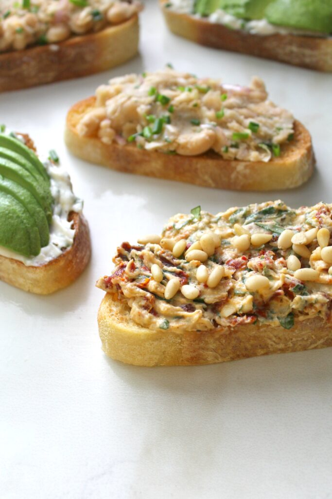 Switch up your toast toppings withVegan Toast 3 Ways! You can eat these savory toasts as a tasty breakfast or a satisfying snack   ThisSavoryVegan.com #thissavoryvegan #vegantoast #vegan