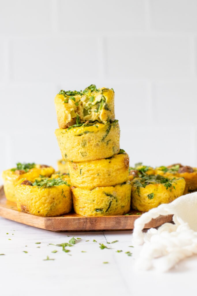 These Vegan Sausage & Egg Muffins are the ultimate brunch finger food or make ahead breakfast for meal prepping for the week | ThisSavoryVegan.com #thissavoryvegan #veganbrunchrecipes #veganmealprepbreakfast